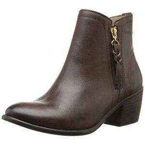 [Wolverine] $165 Ella 1883 Zip Boot Brown Leather